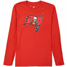 Tampa Bay Buccaneers Youth Team Logo Long Sleeve T-Shirt - Red - NFL