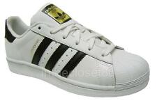 Adidas Superstar White Black Gold Juniors Womens Girls Boys Shell Toe C77154