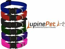 """CHOOSE YOUR SIZE - LUPINE - 1/2 """" WIDE DOG PUPPY COLLAR - MADE IN USA - CLEARANC"""
