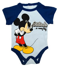 Mickey Mouse Walt Disney Attitude Is Everything Cartoon Baby Creeper Snapsuit