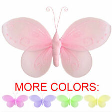 Hanging Butterfly Dk Pink Orange Yellow Home Playroom Baby Nursery Decorations