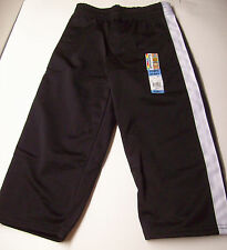 Garanimals Tricot Pant 3T Black w/White Side Stripes NEW WITH TAGS