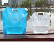 5/10L Portable Folding Foldable Water Storage Collapsible Bag Container Carrier