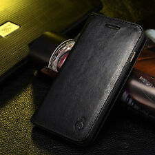 Genuine Real Leather Wallet Card Holder Flip Case Cover for 5 6 6 Plus