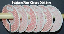 Baby Closet Size Dividers Hangers Girl Pink Arrow Tribal Dots Clothes Organizers