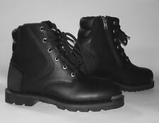 Mens altimate Leather Motorcycle boots side zipper Cruiser FREE RETURN SHIPPING