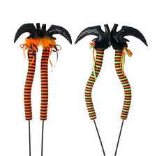 Witch Legs & Boots on Stake 42in Halloween Decoration rzha 3416025 NEW RAZ