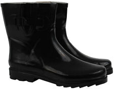 BLACK SHORT GUMBOOTS Wellies Ladies Womens Boot Rainboots Size 6 7 8 9 10 11 New