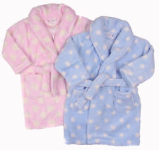 Beautiful Baby dressing Gown Pink or Blue Soft Fluffy Fleece 6-12m 12-18m 18-24m