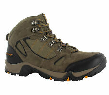 Hi-Tec Falcon Brown Leather Waterproof Walking Mens Hiking Boots Size 7-13