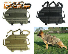 Tactical Military Army Police Molle Dog Vest Harness Canine Training Vest