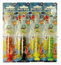 *ANGRY BIRDS*Soft Bristle LIGHT-UP TIMER Suction Cup TOOTHBRUSH Kid *YOU CHOOSE*