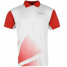 Carlton Mens Polo Red Shirt Short Sleeve Training Tennis T Shirt Tee Top