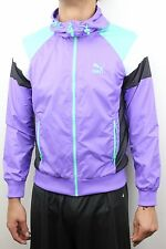 Puma Mens Seasonal Wind Jacket Dahlia Purple Black White 565647 45 TL23219 NWT