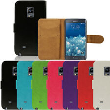 Flip Pu Leather Flip Case Wallet Cover For The Samsung Galaxy Note Edge N915