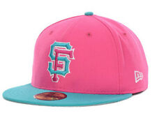 San Francisco Giants MLB Intermix Beet Root Teal New Era Fitted FlatBill Hat Cap