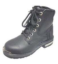 Womens altimate Leather Motorcycle boots side zip Cruiser FREE RETURN SHIPPING