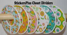 Baby Closet Size Dividers Hangers Girl Owl Floral Butterfly Clothes Organizers