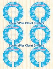 Baby Closet Size Dividers Hangers Girl Cute Nautical Whale Clothes Organizers