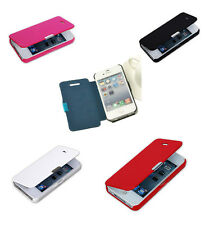 Magnetic Flip Leather Hard Skin Pouch Wallet Case Cover For Apple iPhone 4s 5s