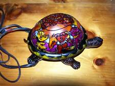 GRATEFUL DEAD ART INSPIRED DANCING BEARS TURTLE DESK LAMP TIFFANY STYLE