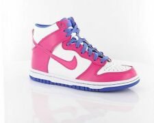 Nike Dunk High Kids Hi Top Fashion Trainers Girls Leather Pink White & Purple
