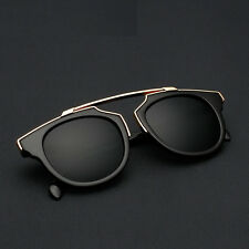 Fashion Women Men Unisex Aviator Sunglasses Retro Vintage Mirror Lens Glasses