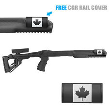 Fab Defense FIXED Stock for RUGER 10/22 w/ Canada Rail cover UAS R10/22 CNDA