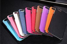 Hard Back Case Cover Luxury PU Leather Chrome Frame For iPhone 5 5s fashion