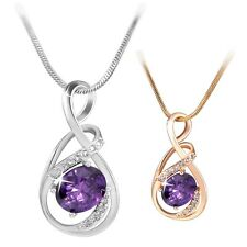 Best Sell!18K white/yellow Gold filled Individual Purple Sapphire pendant