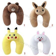 Pokemon Pikachu Eevee Brown Bear Neck U-Shaped Pillow Cushion Soft Plush Doll