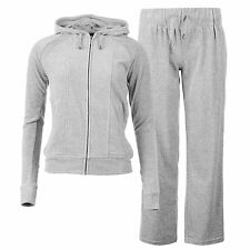 Miss Fiori Womens Ladies Hooded Velour Tracksuit Top Pant Bottom Sports Training