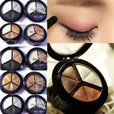 3 Colors Natural Smoky Eyeshadow Cosmetic Eye Shadow Palette Set Make Up