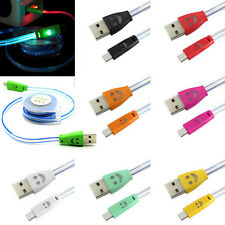 Retractable LED Micro USB 2.0 5P Sync Data Transferring Power Charging Cable Lot