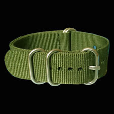 18mm 20mm 22mm 24mm Military Green Nylon Watchband Watch Strap Wristwatch Band