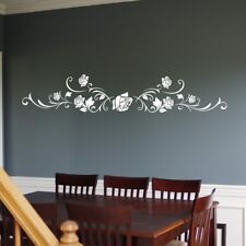 SWIRL ROSE WALL STICKER decal floral decorative vine vinyl living room art