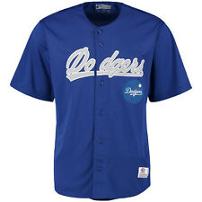 L.A. Dodgers Stitches Polyester Button-Up Jersey - Royal