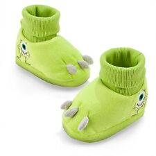 DISNEY STORE MONSTERS INC MIKE WAZOWSKI PLUSH COSTUME SLIPPERS FOR BABY