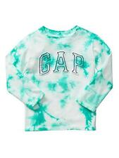 NWT BABY GAP BOYS LOGO  TOP SHIRT  tie-dye teal green     u pick size