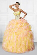 Gown Evening Prom 2015 Dress Crystal Formal Party Pageant Bead Ball Quinceanera