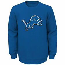 Detroit Lions Youth Prime Fleece Crew Pullover Sweatshirt - Blue - NFL