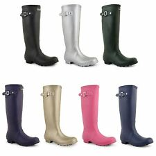 Womens Wellington Boots Festival Rain Snow Wellies Ladies Waterproof Shoes Size