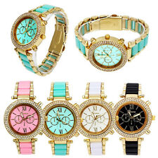 Fashion Luxury Women Ladies Watch With Double Crystal Quartz Analog Wrist Watch