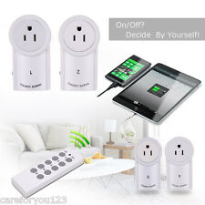4/5 Pack Wireless Remote Control Outlet Power Light US Plug Switch Socket