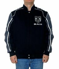 Dodge Ram Truck Jacket Black Twill Adult Licensed JH Design Jackets