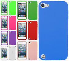 For iPod Touch 6 6th Gen Rubber SILICONE Soft Gel Skin Case Cover +Screen Guard