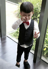 Boys children Kids Vest + Pants Wedding Pageboy Party outfits suits 2pcs set