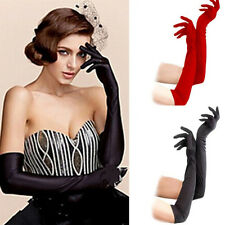 Satin Long Gloves Opera Wedding Bridal Evening Party Fashion Prom Costume Gloves