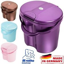 Rotho Baby Nappy Changing Dispose Bin Bucket Pail Container with Spring Lid New