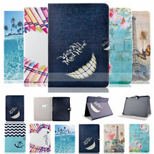 Pattern Leather Wallet Flip Case Cover For Samsung Galaxy Tab 3/4 E/A/S Tablet